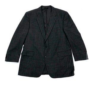 JOS A BANK Men's Grey Plaid Cashmere Blazer 46L